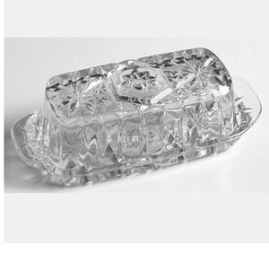 Anchor Hocking Covered Butter Prescut Clear